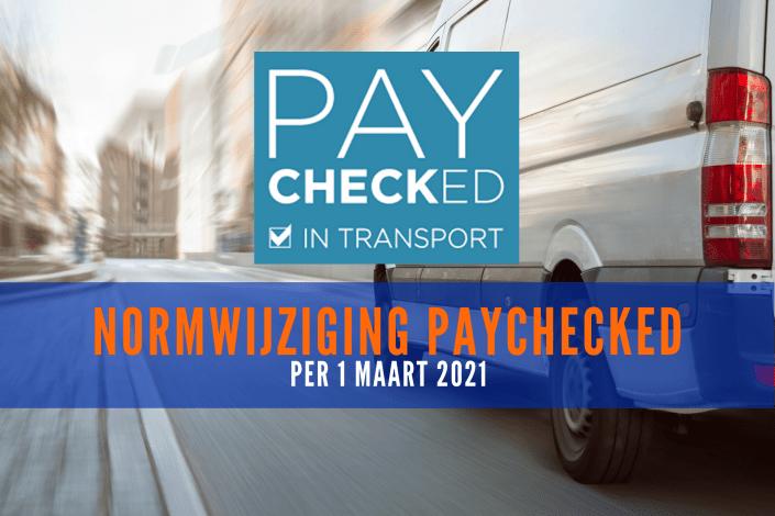 Normwijziging Paychecked 1-3-2021